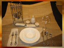 Place Setting with Stand